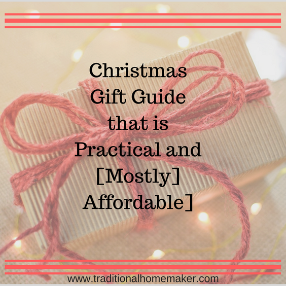 Christmas Gift Guide that is Practical and Mostly Affordable