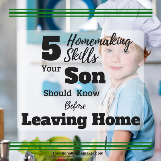 As your son prepares to leave home, you need to make sure he is capable of running his own household (or dorm room). Even if he plans to marry some day, there are still some essential homemaking skills your son should know before leaving home.