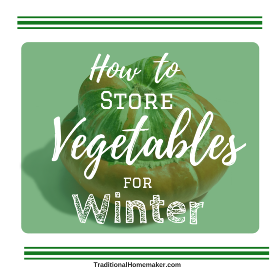 Sometimes you don't have time to can, freeze or dry all the produce as it is harvested. When you know how to store vegetables you can enjoy them fresh.
