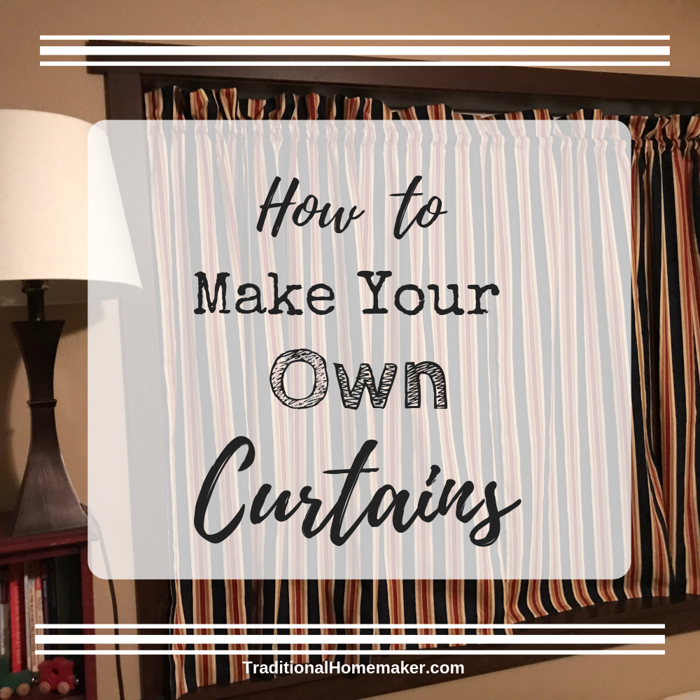 Learn how to make your own curtains! Grab some clearanced fabric and sit down in front of your sewing machine to cozy up your house on a budget.