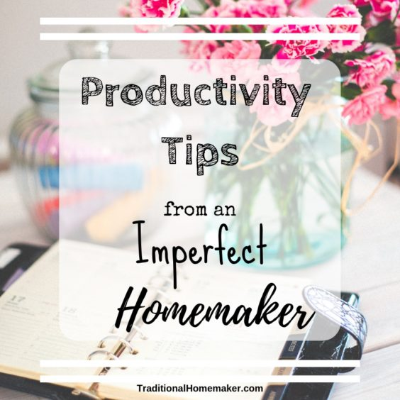 Keeping a family alive must mean that I'm a little bit productive... Right? I'd like to share a few productivity tips from an imperfect homemaker.