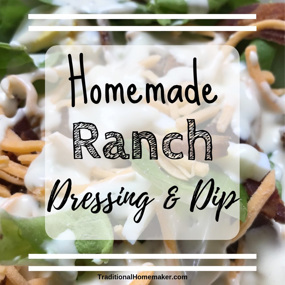 Ranch dressing should be its own food group. Except Hidden Valley has too many hidden ingredients so I choose to make homemade ranch dressing and dip!