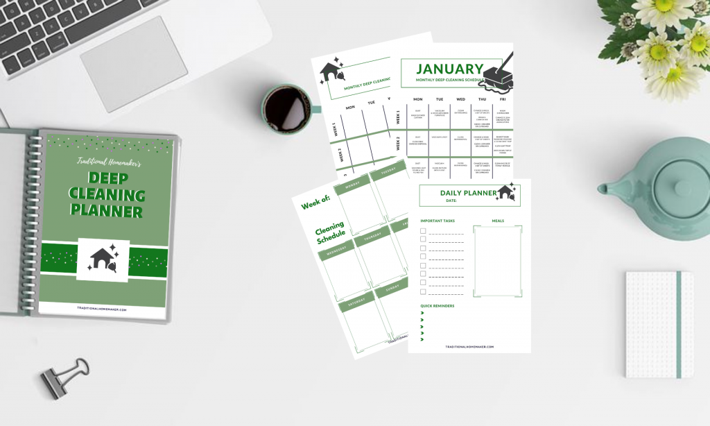 Deep Cleaning Planner for every day of the year