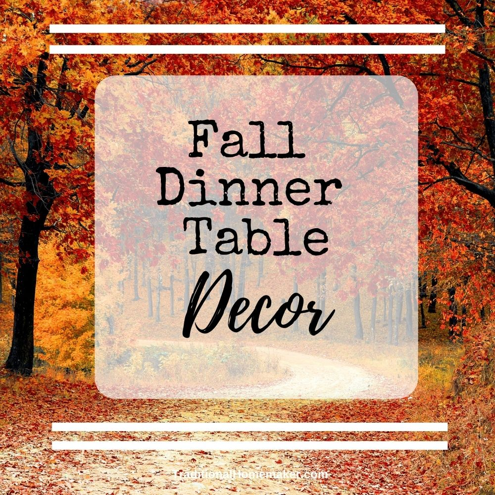 Make a mea an experience the whole family wants to linger around.Discover 12 affordable ways to change up your dinner table decor this fall.