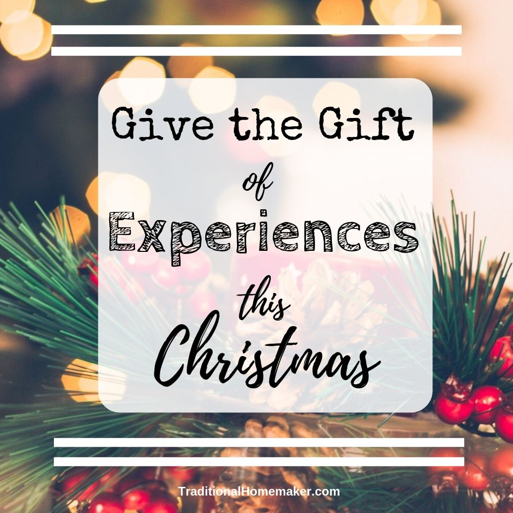 Ditch the clutter and electronics of Christmas Gifts and give the gift of experiences this Christmas.