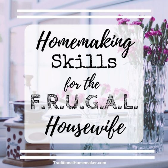 Wonder how you can contribute to your family's income? Implement  homemaking skills for the frugal housewife to help your husband's income stretch further!
