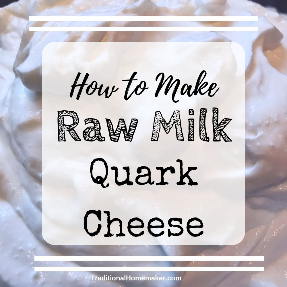 How to make raw milk quark cheese.
