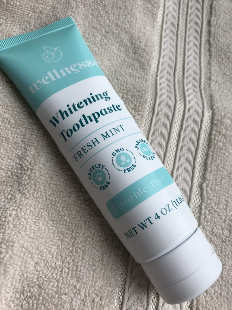 Wellnesse whitening Toothpaste not only cleans your teeth but rebuilds them and whitens them.