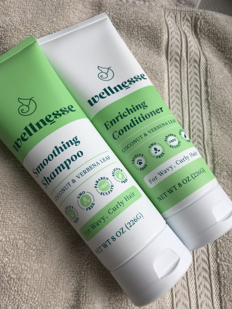 Wellnesse Shampoo & Conditioner Product review for wavy or curly hair.